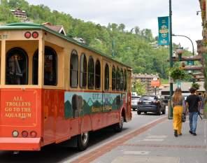 Ride the Gatlinburg Trolley