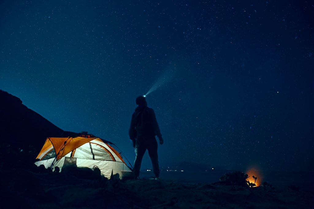 Camp in the backcountry